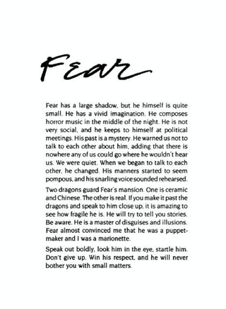 Fear - The book of Qualities